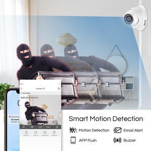 Image 5 - ZOSI CCTV מערכת 1080P מלא HD 8CH H.265 + DVR 6pcs 2.0MP כיפת אבטחת מצלמה 24pcs IR LED חיצוני בית מעקב מערכת