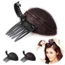 Esponja volume de cabelo na testa, almofada macia para inserir e inserir ferramenta, base de estilização diy, princesa, aumento do cabelo