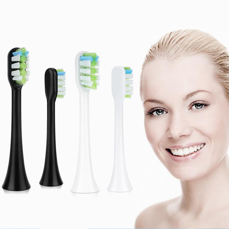 4pcs For Soocas X3 Toothbrush Heads Foodgrade Bristle For Soocare Soocas X5 X3 Nozzle Replacement Electric Toothbrush Brush Head