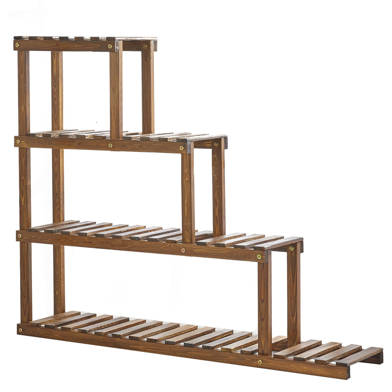 Multi-storey Indoor Wood Quality Balcony Shelf Solid A Living Room Landing Type Fleshy Windows Small Flowerpot Frame