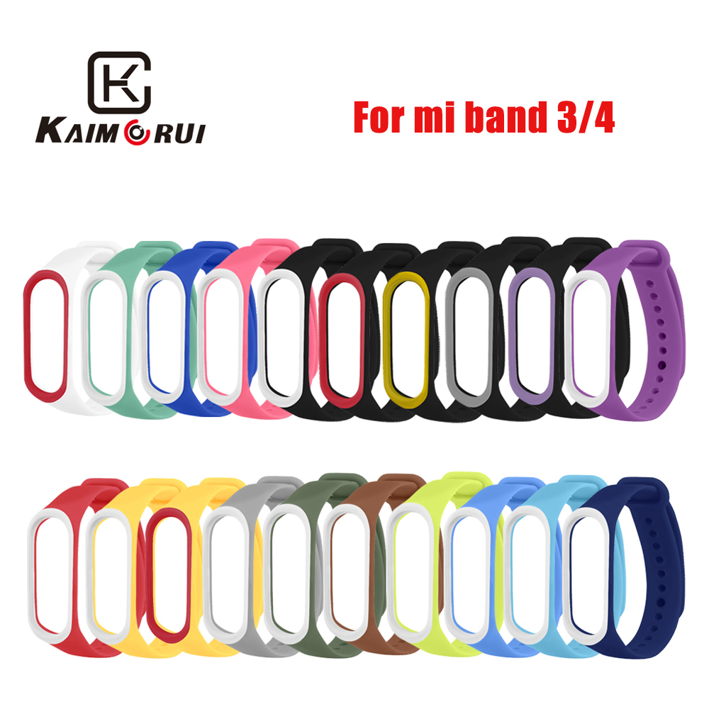 Smart Band Strap For Xiaomi Mi Band 4 3 Strap Miband Replacement Wrist Strap For M3 M4 Smart Bracelet Watch Smart Accessories