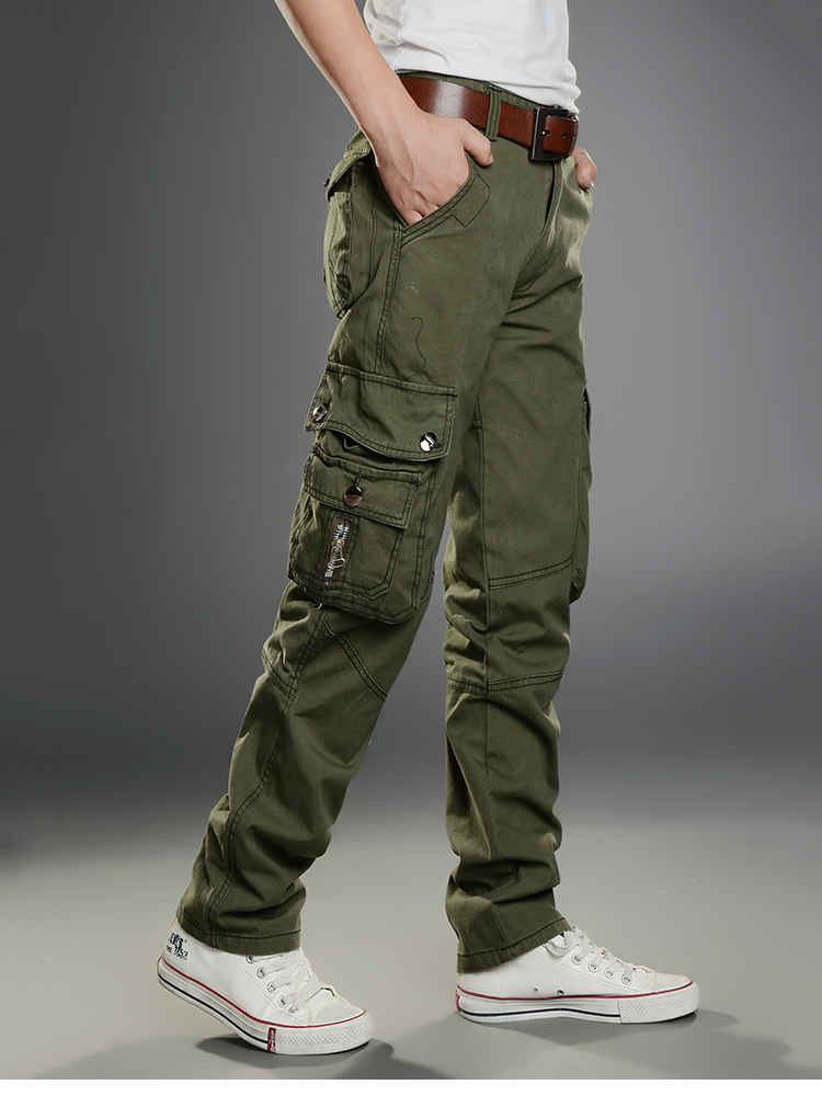 KSTUN New Cargo Pants for Men Baggy Casual Pants Male Overalls Full Length Trousers Loose Straight Cut Pants Zippers Pockets Desinger 21