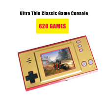 Mini gra wideo 8 Bit przenośny przenośna konsola do gier zbudowany w 620 roku gra Retro 2 5 cal klasyczna gra stacji wsparcie TV podłączyć tanie tanio wolsen NONE CN (pochodzenie) 2 5inch GB35-Video game player Mini Portable Handheld Game Console 620 Retro Game 2 5 inch color screen