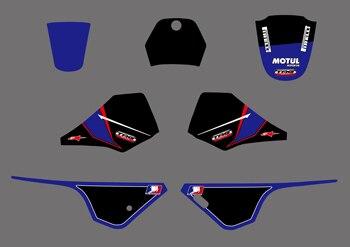 Nuevo estilo de motocicleta, gráficos en equipo y fondos, pegatinas, Kits de pegatinas, PW PIT bike 80 para Yamaha (negro/morado)