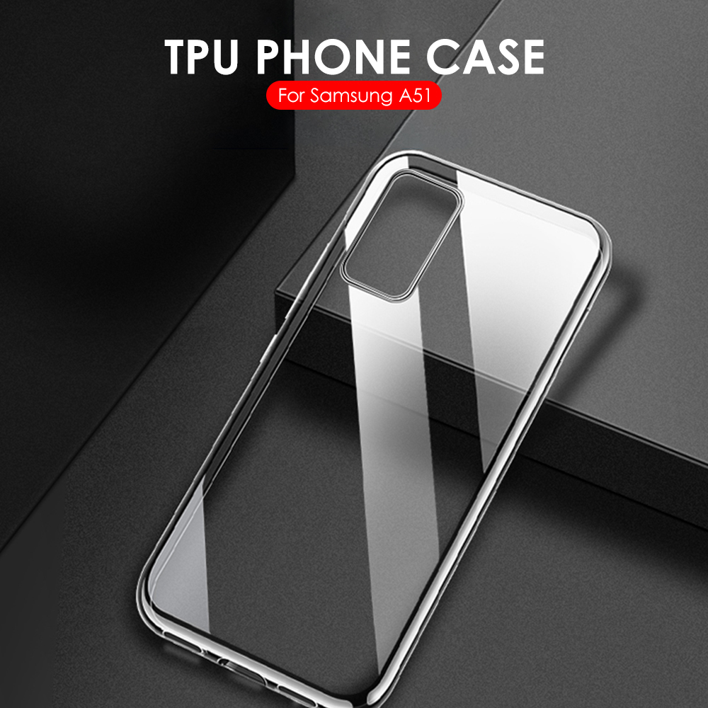 Slim Clear Case For Samsung Galaxy A51 A71 TPU Transparent Soft Case For Samsung Galaxy A51 A71 A 51 71 2019 Cover Fundas Capa(China)
