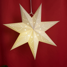 Hollow Out Paper Lantern Star Paper Christmas Ornaments Folding Hanging Paper Star Lanterns Party Lantern New Year Decoration
