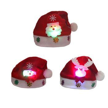 Ozdoby choinkowe czapki dziecięce prezenty czapki bożonarodzeniowe dla dorosłych dzieci czapki z kreskówek czapki staruszka bałwana lśniące czapki tanie i dobre opinie CN (pochodzenie)