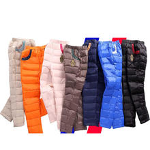 High Quality Winter Pants for Boys Solid Color Children Down Pants Casual Teenage Girls Warm Trousers Windproof Leggings 3 16Yrs