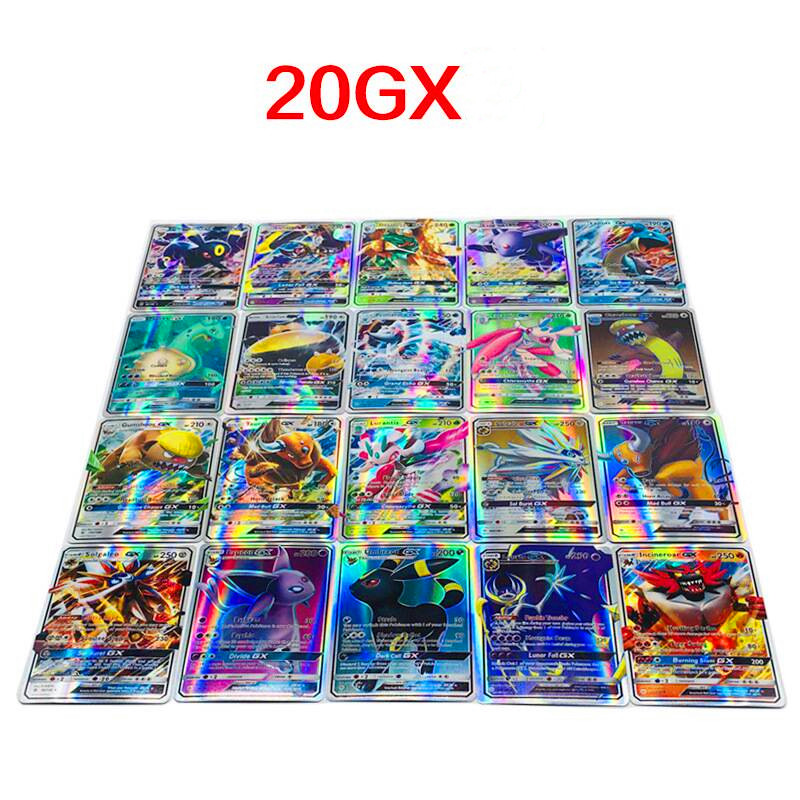 20Pcs GX 6.3*8.8CM Game Collection Cards