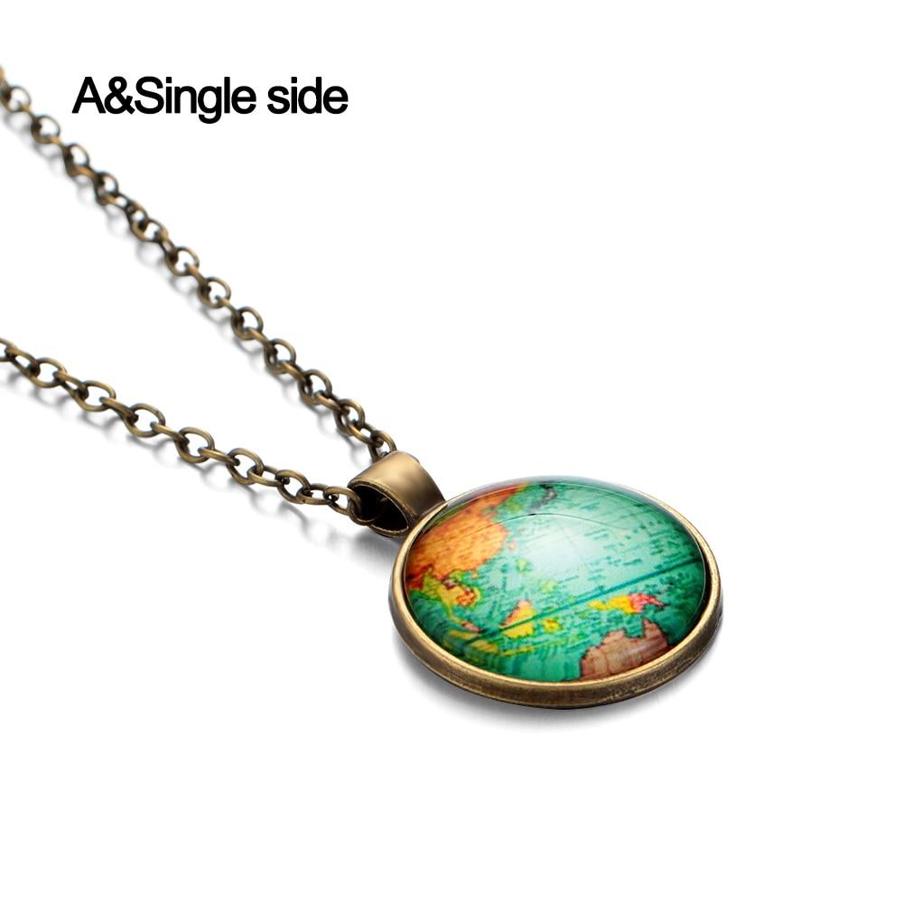 Creative Vintage Globe Earth Pendant World Map Key Chain Fashion Beautiful Chain
