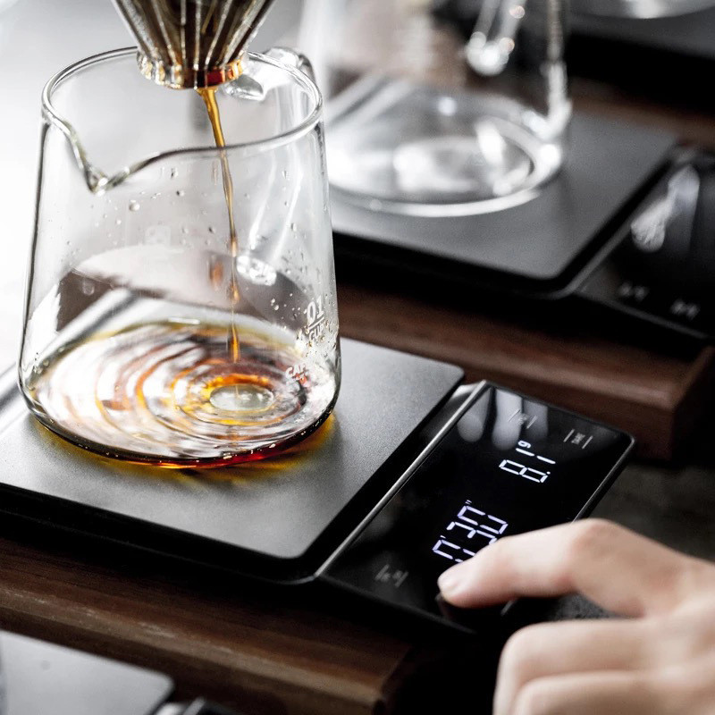 Hand Coffee Electronic Scale Bar Counter Kitchen Food Scales Preservation Timing Weighing Timing LED Display Scale Birthday Gift