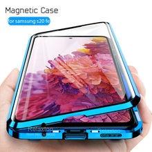 Магнитный флип-чехол для телефона Samsung S20 FE, чехлы 360 °, двухсторонний стеклянный чехол для Samsung Galaxy S 20 Fan Edition S20EF 5G