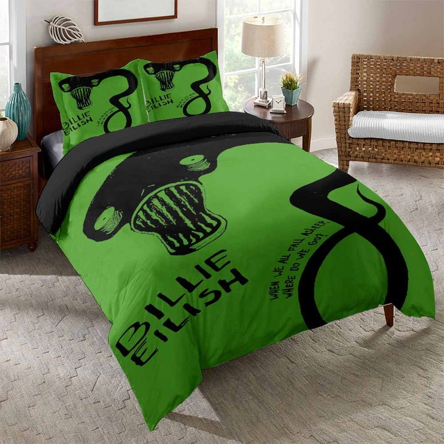 3D BILLIE EILISH BEDDING SET (12 VARIAN)