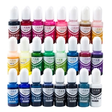 Jewelry Liquid-Decor Epoxy-Pigment Color-Mixing Crystal Resin Dye 24-Colors Drying UV