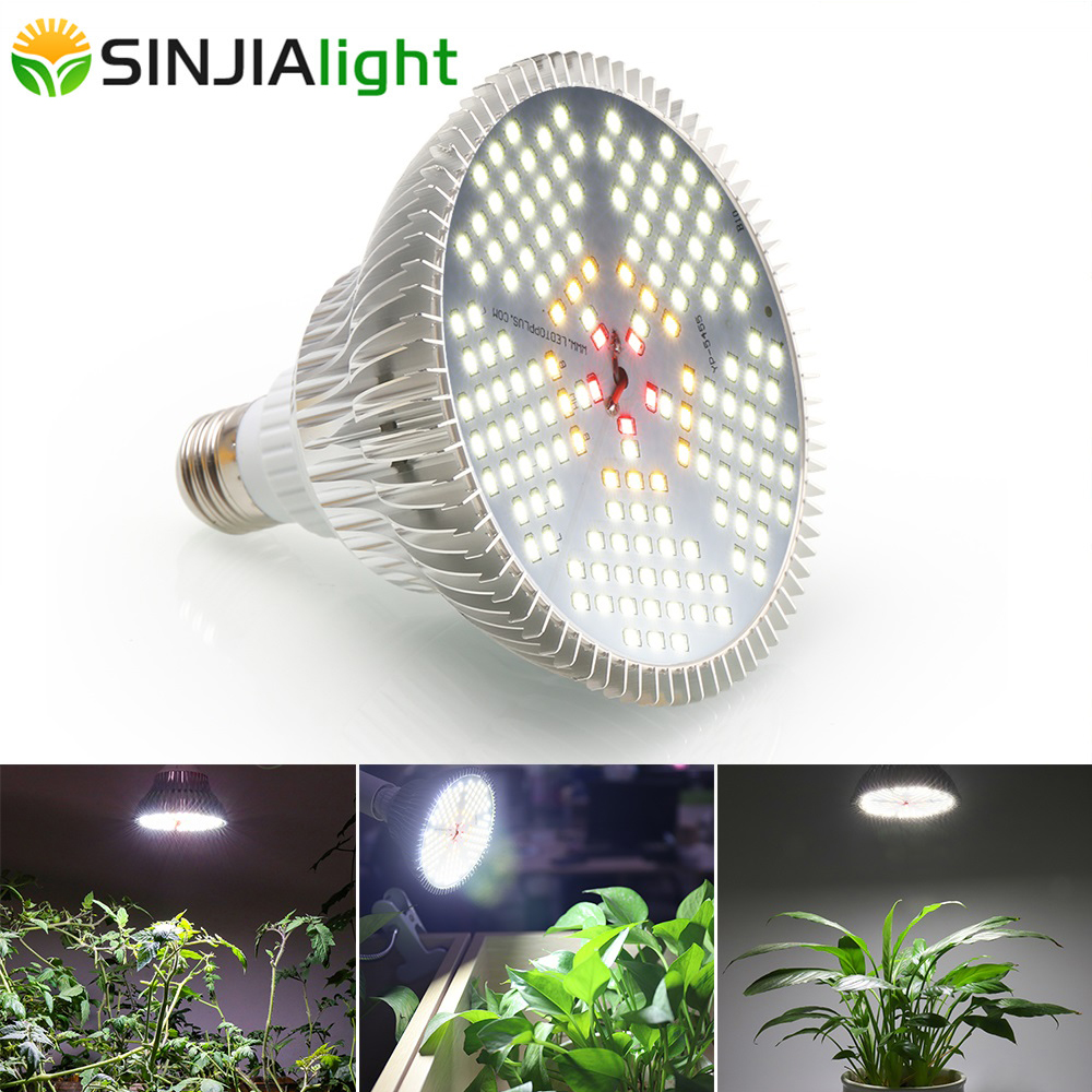 New Arrive 150LEDs Plant Grow Light Growing Lamp White Lights Fito Led Bulb For Plants Flowers Garden Vegs Indoor Grow Box E27