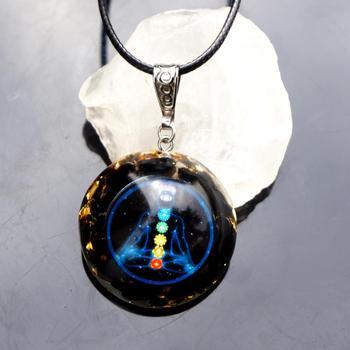 Χειροποίητο Κρεμαστό Κόσμημα Οργονίτης obsidian Φυσικός Ενεργειακός Κρύσταλλος Προστασία Θεραπεία