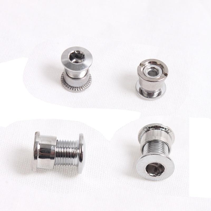 5Pcs 6.5//8.5mm Bike Chain Wheel Screw Single//Double Chainring Bolts Accessories