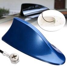 1 pièces universel voiture Auto requin aileron toit antenne Signal Radio FM/AM bleu aérien pour BMW Honda Toyota Hyundai