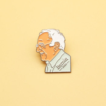 Bernie Sanders brooch and enamel pins Men and women fashion jewelry gifts anime movie novel lapel badges image