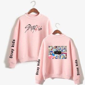 Модный Детский свитер с высоким воротом SHEIN, популярные повседневные Пуловеры Kpop, уличная Женская Повседневная Толстовка в стиле панк, 2019