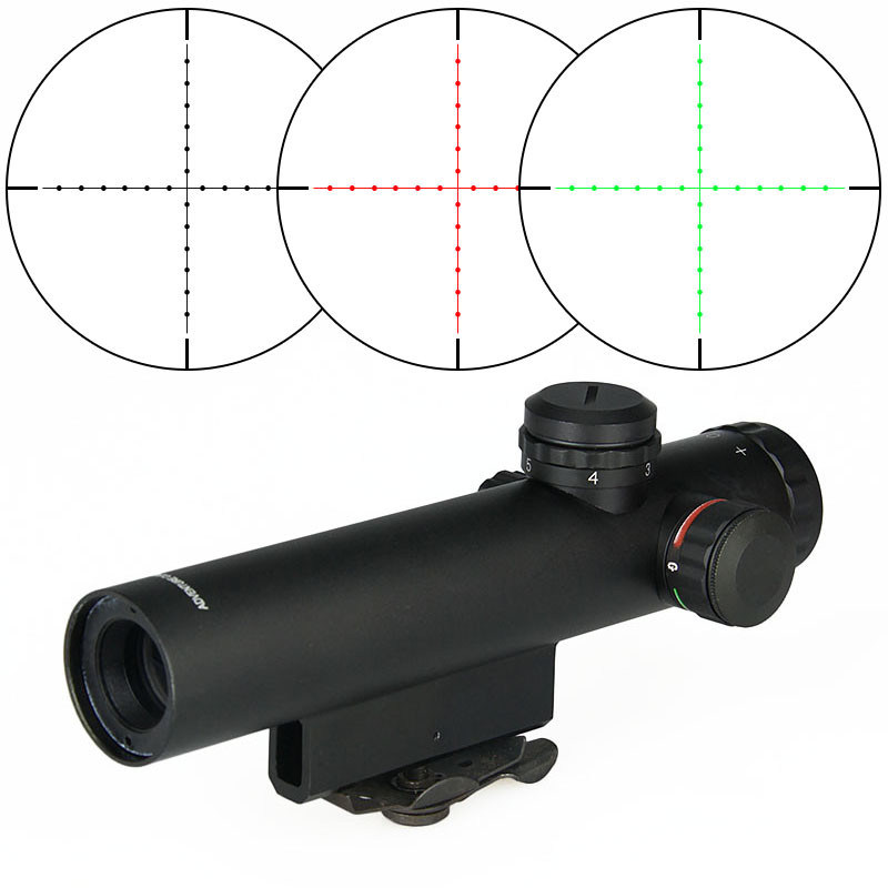 PPT Rifle Scope Optics 4x20E AR .223 5.56 Carry Handle Compact Riflescope ShockProof Electro GunSight gs1-0007 image