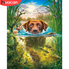 HUACAN Paint By Number Dog Animal Hand Painted Wall Art DIY For Adults Picture By Numbers Gift Home Decor
