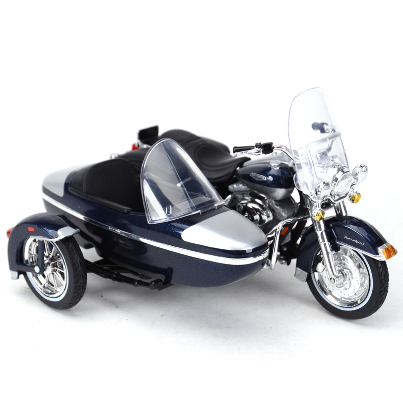 Maisto 1:18 2001 FLHRC Road King Classic Motorcycle Sidecar Diecast Alloy Motorcycle Model Toy