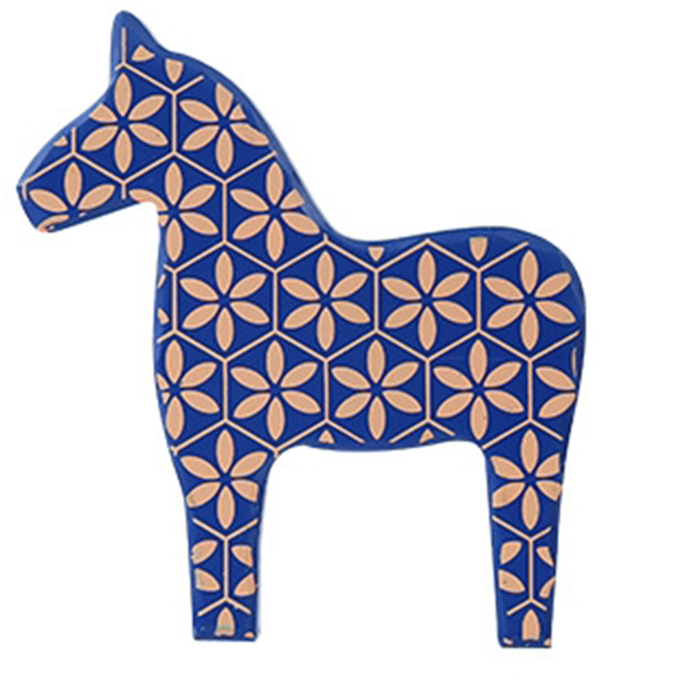1 PC Nordic Literary Marbled Wooden Horse Cute Living Room Wooden Ornaments TV Cabinet Decorations For Study Shop Restaurant in Figurines Miniatures from Home Garden
