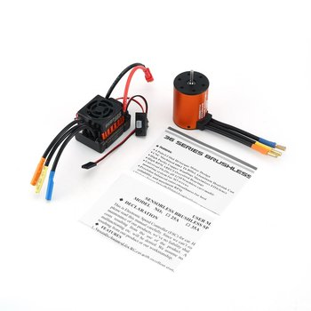 SURPASSHOBBY 3650 5900/5200/3100/4300/3900/3500KV Brushless Sensorless Motor with 60A ESC Combo Set for 1/10 RC Car Truck