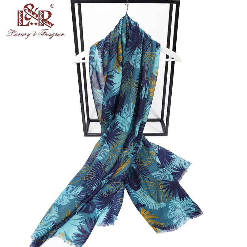 2020 Summer Chiffon Voile Scarves Print Coconut Tree Scarf Shawl Elegant Women Lady Vintage Long Soft Voile Female Scarf Poncho|Women