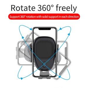 Image 4 - Aqo 自動車電話ホルダー iphone 虎尾インテリジェント赤外線チー車のワイヤレス充電器空気ベントマウント携帯電話ホルダー EDZ 13