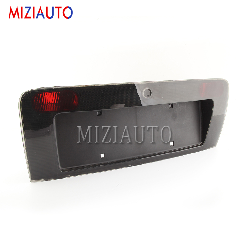 MIZIAUTO Car License Plate Lamp Frame For Audi A6 C5 1998 - 2004 Rear Back Door Number License Plate Lamp Frame Cover Holder image
