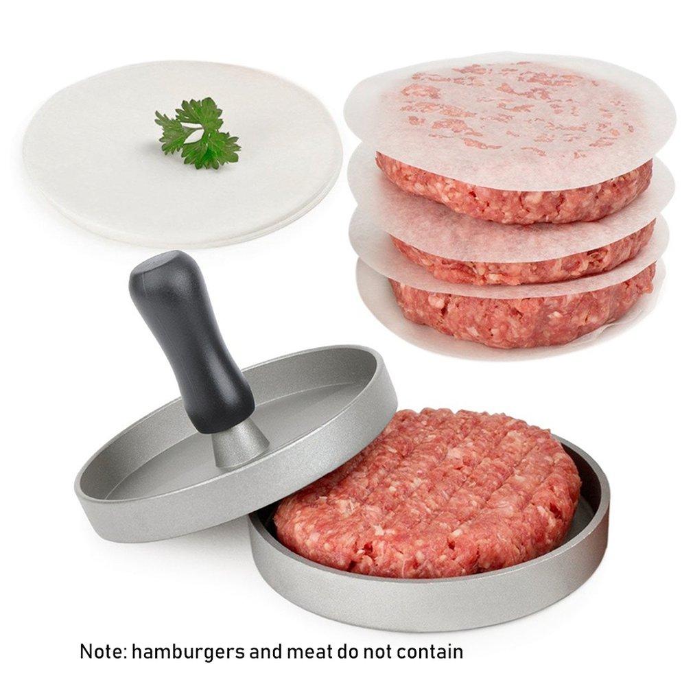Hamburger Maker Hamburger Press Round Shape Non Stick Chef Cutlets Hamburger Meat Beef Grill Burger Press Patty Maker Mold|Manual Burger Press Machines| |  - title=