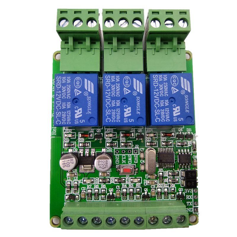 Modbus RTU 3-way Relay Output 3 Inputs RS485 TTL