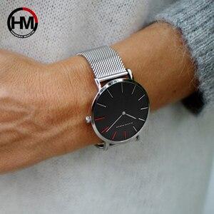 Image 5 - Frauen Uhren Mode Casual Japan Quarz Bewegung Wasserdichte Top Luxus Marke Edelstahl Mesh Armband Damen Armbanduhren