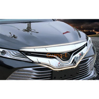 For Toyota New Camry XV70 2017 2018 2019 2020 Car Cover Bumper Engine Head Trim Front Grid Grill Grille Frame Edge