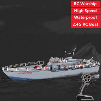 Pilot zdalnie sterowana łódka rc RC wojskowa łódź 2 4G pilot łódź zabawka RC okręt wojenny Cruiser okręt wojenny wodoodporna szybka łódź łódź zabawka tanie i dobre opinie Tccicadas CN (pochodzenie) Metal Z tworzywa sztucznego About 25MINS 110-240V Łodzi i statek About 200mins Pilot zdalnego sterowania