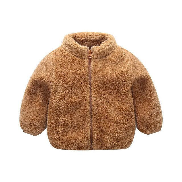 Kids Solid Warm Wool Coat...