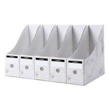 Держатель для файлов, бумажная коробка для хранения, Настольная отделочная коробка для спальни, студенческий стол, стеллаж для хранения книг