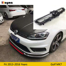 Aspec style front bumper carbon fiber grille For VW golf 7 Rline GTI 2013 - 2016 MK7 R CF styling grille (not fit Golf 7.5)(China)