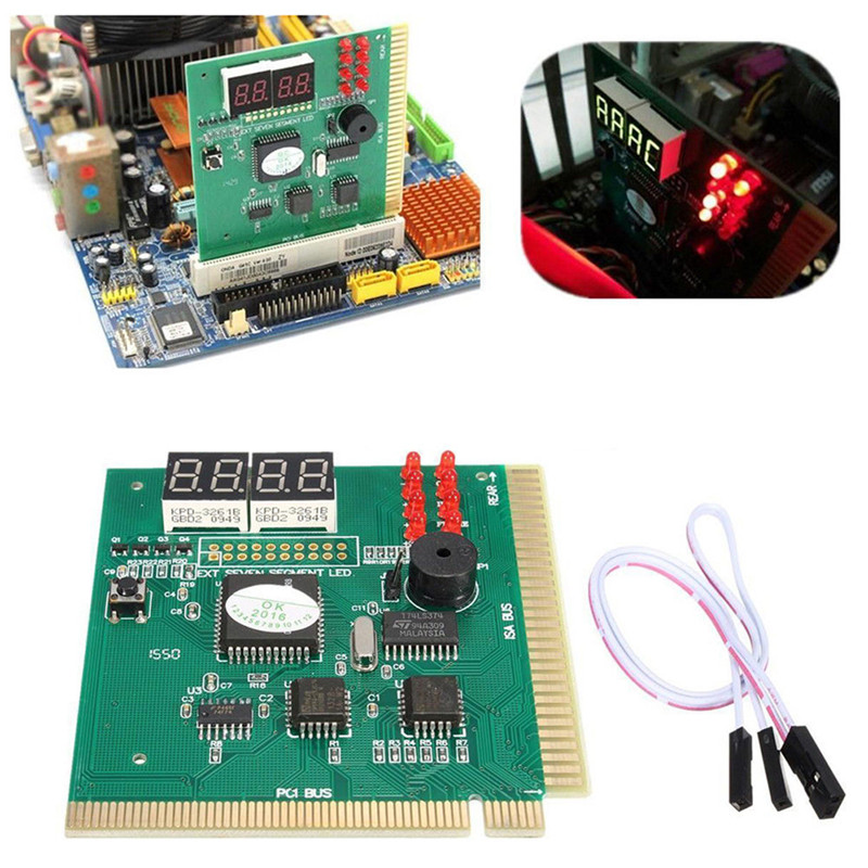 PCI& ISA Motherboard Tester Diagnostics Display 4-Digit PC Computer Mother Board Debug Post Card Analyzer