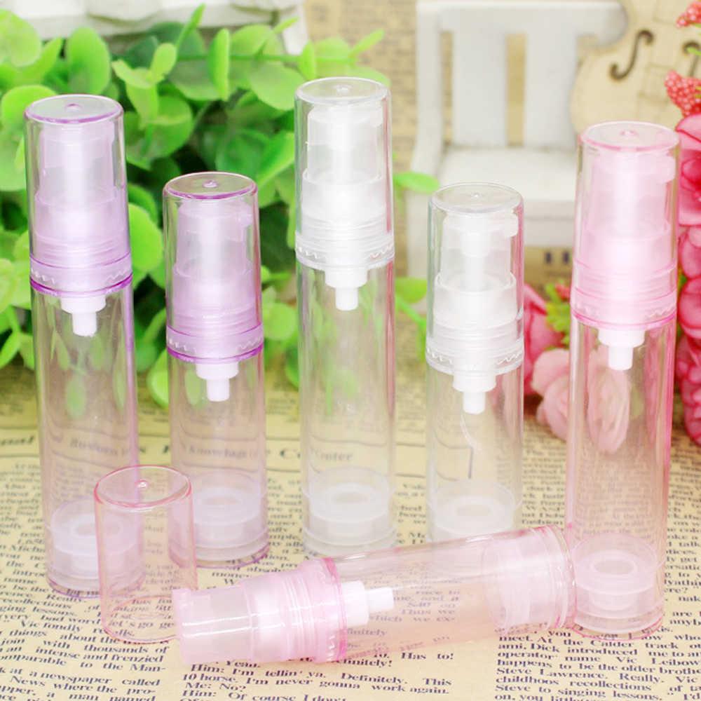 5ml 10ml boş plastik kozmetik şişesi seyahat sıvı şişeler şeffaf havasız pompa vakum tuvalet konteyner