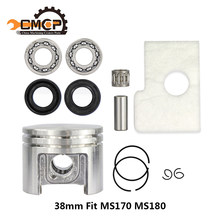 38mm Motor Zuiger Kit Krukas Lager Oliekeerringen Kit Fit Stihl Kettingzaag MS180 MS170 Kettingzaag Onderdelen(China)
