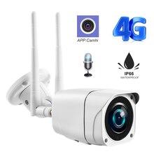 Cámara inalámbrica Bullet Wifi GSM 3G 4G, Tarjeta SIM 1080P, cámara IP HD, CCTV de seguridad al aire libre, detección de movimiento, vigilancia P2P Camhi