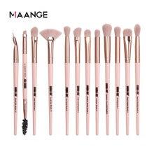 MAANGE – ensemble de pinceaux de maquillage Pro, 3/5/12 pièces, ombre à paupières, Eyeliner, brosse à sourcils, outils de mélange de beauté