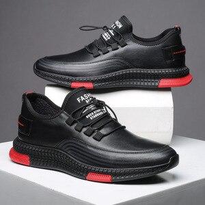 Novos sapatos masculinos sapatos casuais leve rendas até tênis respirável jogging skate sapatos masculinos deslizamento calçados masculinos L13-01