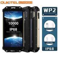 OUKITEL WP2 IP68 impermeable NFC 4G LTE Smartphone 10000mAh 4GB RAM 64GB ROM 6,0 pulgadas 18:9 Octa Core huella dactilar teléfono móvil