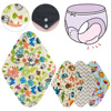 Dropshipping Panty Liner Cloth Menstrual Pad Mama Large Sanitary Reusable Soft Washable Charcoal Period Napkins
