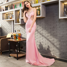 Custom made women robe de soiree girls Sexy evening dress woman backless costume Fashion elegant sheath Club Party new dresses