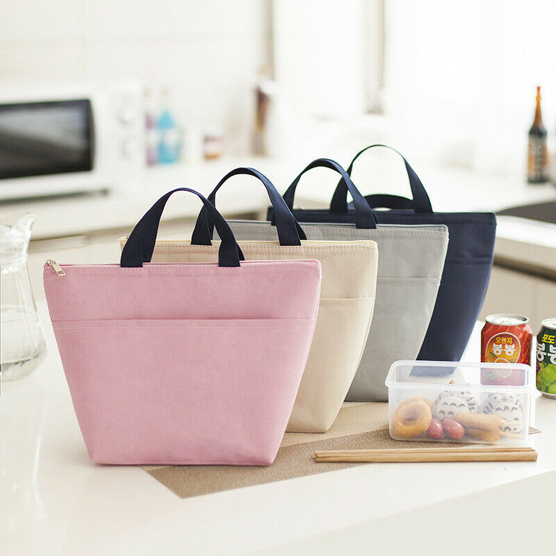 Lunch Bag Insulated Women Men Tote Thermal Box Cooler Travel Picnic Carry Bag